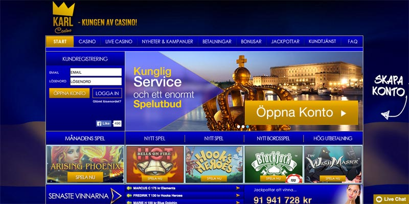 karlcasino screenshot