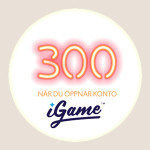 igame 300 free spins