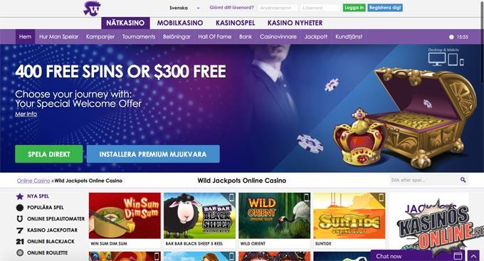 Wild Jackpots kasino